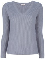Cruciani Ribbed V-neck jumper