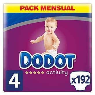 Kurt Geiger Dodot Activity Diapers Size 4, 192 Nappies, 9-14