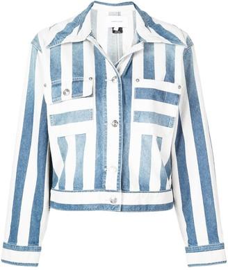 Current/Elliott striped denim jacket
