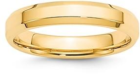 Bloomingdale's Men's 4mm Bevel Edge Comfort Fit Band in 14K Yellow Gold - 100% Exclusive