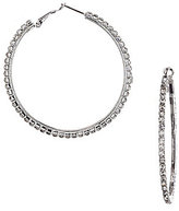 Cezanne Large Crystal Rhinestone Hoop Earrings