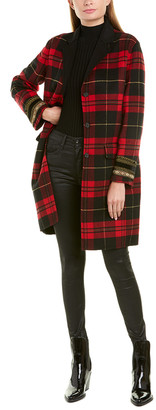 The Kooples Plaid Wool-Blend Coat