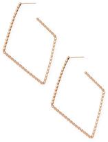 Paolo Costagli 18K Rose Gold with Diamond-Shaped Hoop Earrings