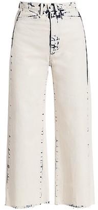 Proenza Schouler White Label Wide-Leg Cropped Jeans