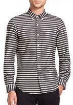Timo Weiland Pique Striped Cotton Sportshirt