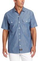 Dickies Men's Big Short Sleeve Chambray Shirt