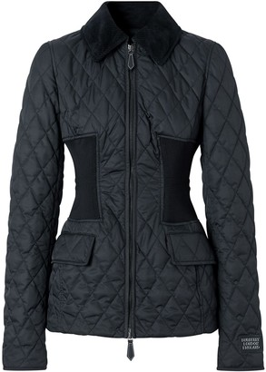 Burberry Diamond Quilted Fitted Jacket