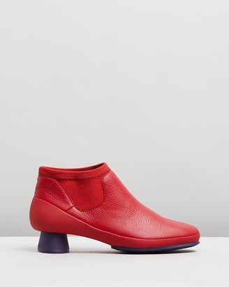 Camper Women's Red Heeled Boots - Alright Ankle Boots - Women's - Size One Size, 38 at The Iconic