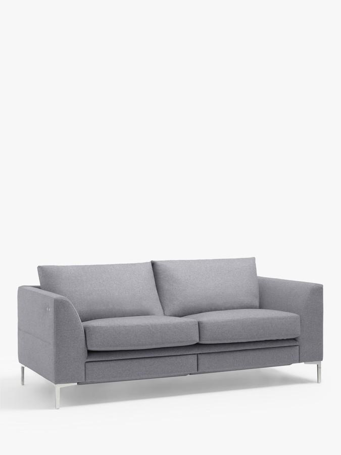 John Lewis & Partners Belgrave Motion Medium 2 Seater Sofa with Footrest Mechanism, Metal Leg