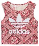 adidas Girls' Printed Logo Top - Big Kid