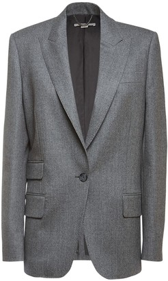Stella McCartney One Breast Wool Blazer Jacket