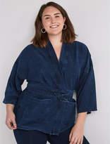 Lucky Brand Plus Size Dark Knit Kimono Jacket