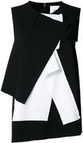 Enfold contrast folds top - women - Polyester/Polyurethane - 38