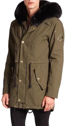 Moose Knuckles Walker Fur-Trim Canvas Jacket