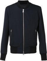 Ami Alexandre Mattiussi zipped bomber jacket - men - Cotton/Acetate/Wool - XS