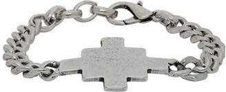 Marcelo Burlon County of Milan Silver Cross Chain Bracelet