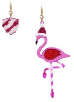 Betsey Johnson Festive Flamingo Mismatched Earrings