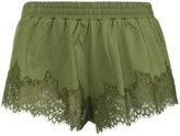 Fenty X Puma - lace trim shorts - women - Cotton - XS