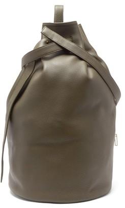 Tsatsas Kilo Grained-leather Shoulder Bag - Womens - Khaki