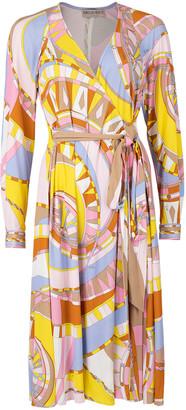 Emilio Pucci Wrap Print Dress