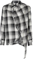 Anrealage tartan asymmetric shirt