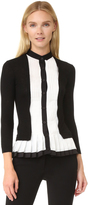Yigal Azrouel Pleated Cashmere Cardigan