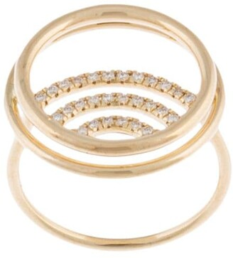 Natalie Marie 14kt yellow gold diamond Clay ring