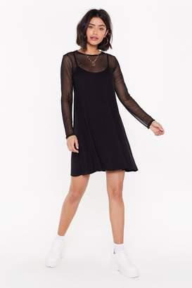 Nasty Gal Womens Sheer Miss Mesh Mini Dress - black - 4