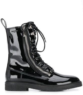 Balmain Lace-Up Combat Boots
