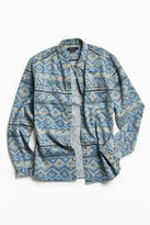 Urban Outfitters Denim Blanket Stripe Button-Down Shirt