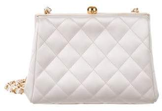 Chanel Quilted Satin Evening Bag
