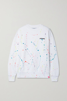 Sprwmn Printed Cotton-jersey Sweatshirt - White