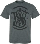 Smith & Wesson Men's Dissolved Logo T-Shirt (Charcoal - M)