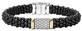 Lagos Women's 'Black Caviar' Diamond Pave Rope Bracelet