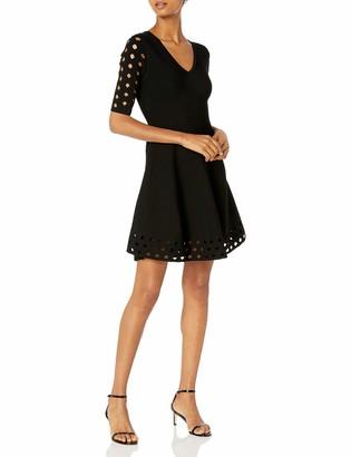 Milly Women's Diamond Pointelle Flare Dress