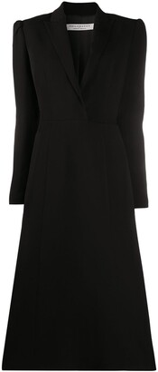 Philosophy di Lorenzo Serafini Peak Lapels Flared Dress