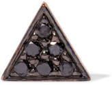 I+I II - 14-karat Gold Diamond Earring - Black