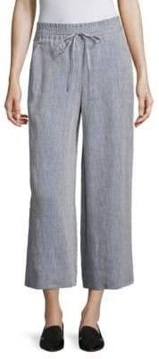 Lafayette 148 New York Cropped Linen Drawstring Pants
