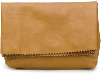 Vetements Foldover Paper Bag Clutch