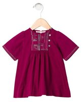 Bonpoint Girls' Embroidered Short Sleeve Dress