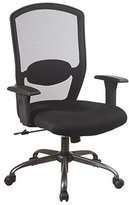 Office Star Work Smart Screen Back Mesh Seat Executive Chair, Black