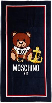 Moschino Toy Print Cotton Terry Beach Towel