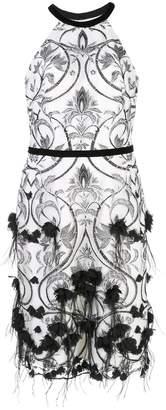 Marchesa 3D floral-print dress