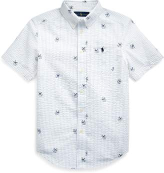 Ralph Lauren Anchor-Print Seersucker Shirt