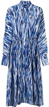 Proenza Schouler Stripe-Pattern Midi Shirtdress