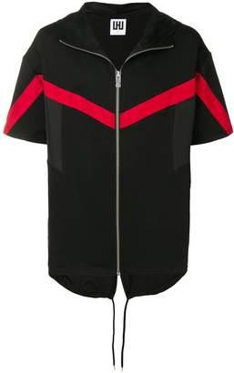 Les Hommes Urban contrast stripe hoodie