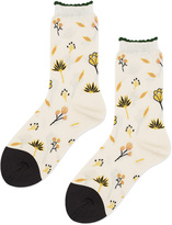 Hansel from Basel Wildflower Cotton-Blend Socks
