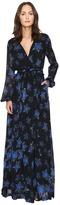 Just Cavalli Military Stars Print Long Sleeve Maxi Dress