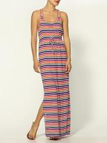 C&C California Printed Stripe Tank Maxi Dress