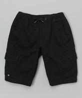 Micros Black Twill Cargo Shorts - Boys